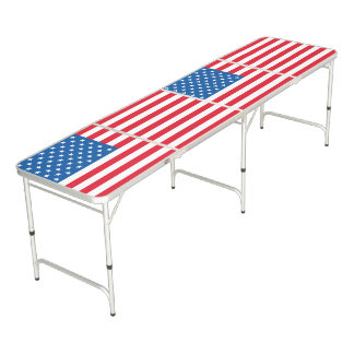 USA Flag stars and stripes Beer Pong Table
