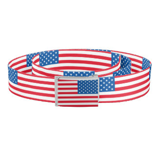USA Flag stars and stripes Belt