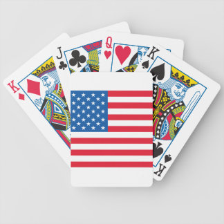 USA Flag stars and stripes Bicycle Playing Cards