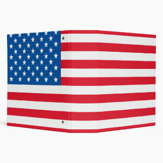 USA Flag stars and stripes Binders