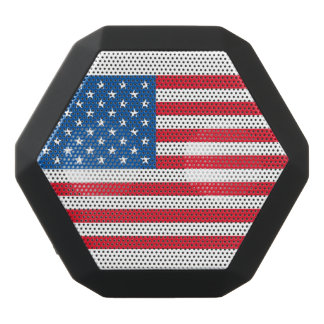 USA Flag stars and stripes Black Bluetooth Speaker