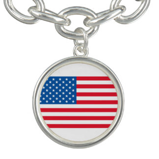 USA Flag stars and stripes Bracelet