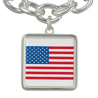 USA Flag stars and stripes Bracelets