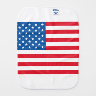 USA Flag stars and stripes Burp Cloth