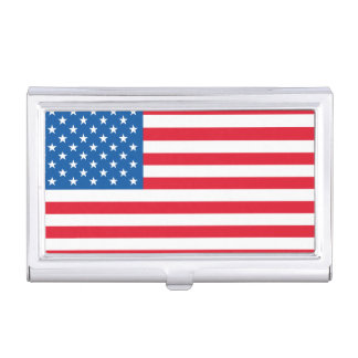 USA Flag stars and stripes Business Card Holder