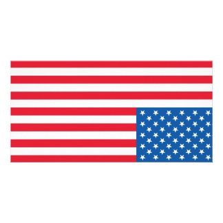 USA Flag stars and stripes Card