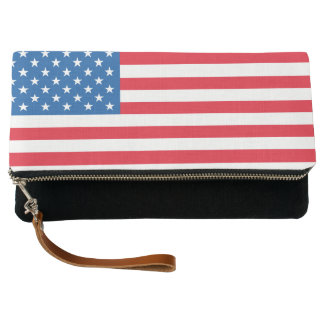 USA Flag stars and stripes Clutch