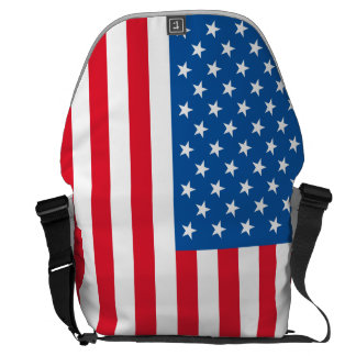 USA Flag stars and stripes Commuter Bag
