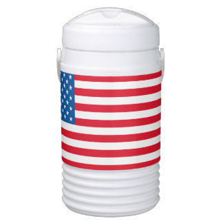 USA Flag stars and stripes Cooler
