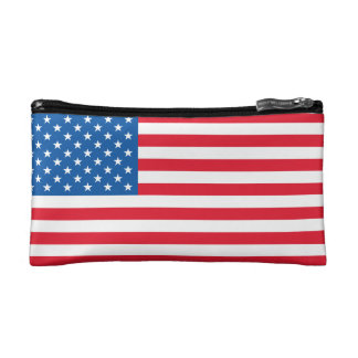 USA Flag stars and stripes Cosmetic Bag