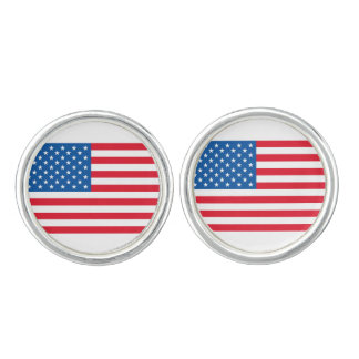 USA Flag stars and stripes Cuff Links