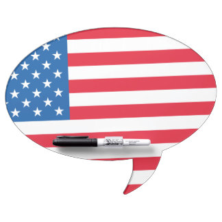 USA Flag stars and stripes Dry Erase Board