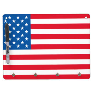 USA Flag stars and stripes Dry Erase Board With Keychain Holder