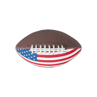 USA Flag stars and stripes Football