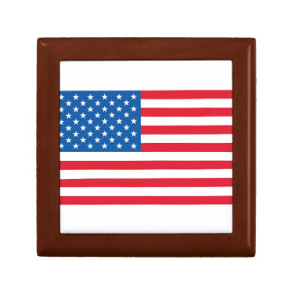 USA Flag stars and stripes Gift Box