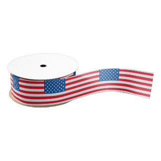 USA Flag stars and stripes Grosgrain Ribbon