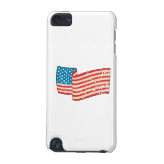 USA Flag Stars and Stripes Grunge Wavy Retro iPod Touch 5G Covers