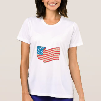 USA Flag Stars and Stripes Grunge Wavy Retro T-Shirt