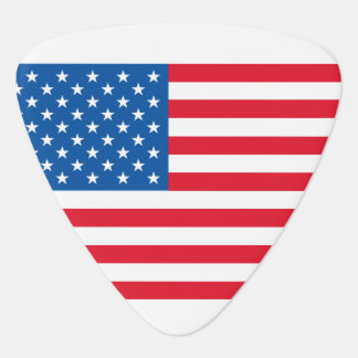 USA Flag stars and stripes Guitar Pick