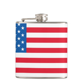 USA Flag stars and stripes Hip Flask