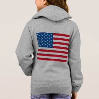 USA Flag stars and stripes Hoodie