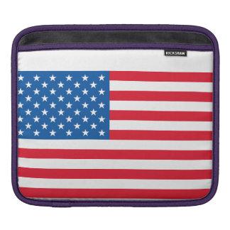 USA Flag stars and stripes iPad Sleeve