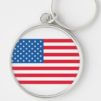USA Flag stars and stripes Keychain