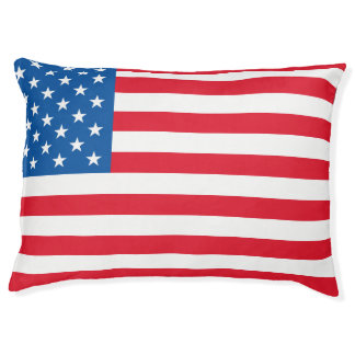 USA Flag stars and stripes Large Dog Bed