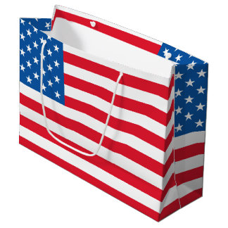USA Flag stars and stripes Large Gift Bag