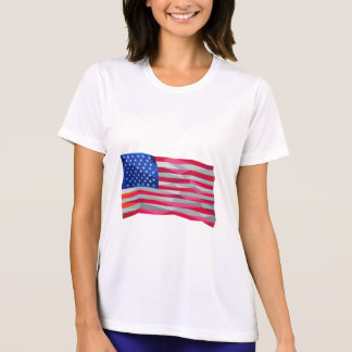 USA Flag Stars and Stripes Low Polygon T-Shirt