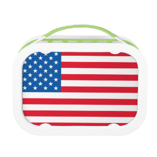 USA Flag stars and stripes Lunch Boxes
