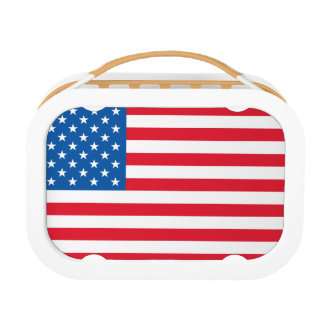 USA Flag stars and stripes Lunchbox