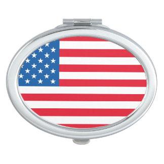 USA Flag stars and stripes Makeup Mirrors