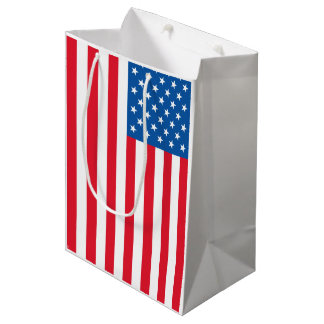 USA Flag stars and stripes Medium Gift Bag
