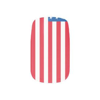 USA Flag stars and stripes Minx Nail Art