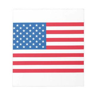 USA Flag stars and stripes Notepad