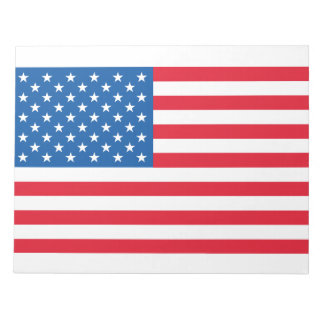 USA Flag stars and stripes Notepad