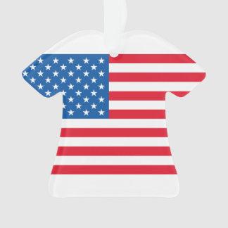 USA Flag stars and stripes Ornament