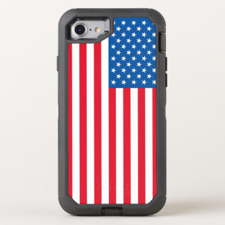 USA Flag stars and stripes OtterBox Defender iPhone 8/7 Case