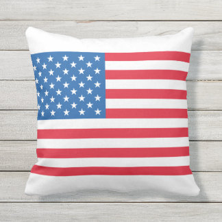 USA Flag stars and stripes Outdoor Pillow