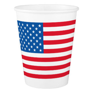 USA Flag stars and stripes Paper Cup