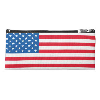 USA Flag stars and stripes Pencil Case