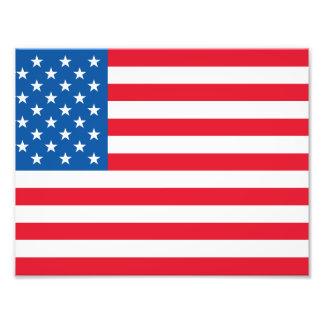 USA Flag stars and stripes Photo Print