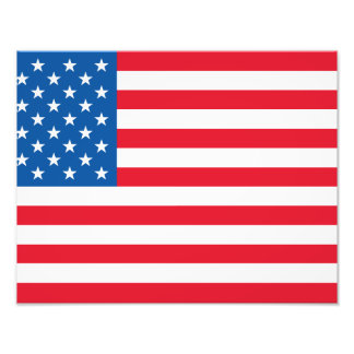 USA Flag stars and stripes Photo Print