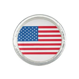 USA Flag stars and stripes Photo Ring