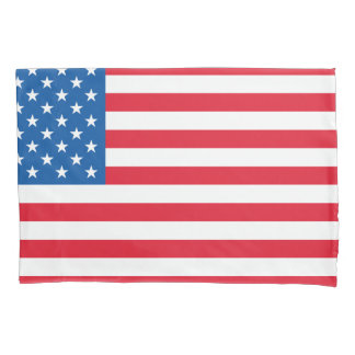USA Flag stars and stripes Pillowcase