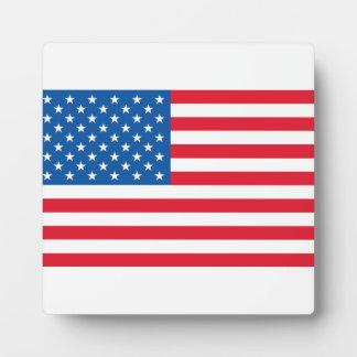 USA Flag stars and stripes Plaque