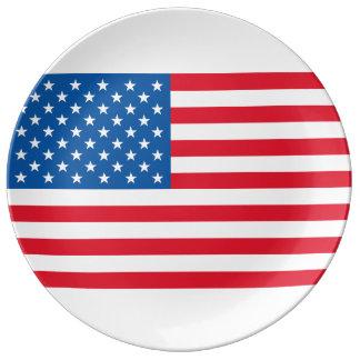 USA Flag stars and stripes Plate