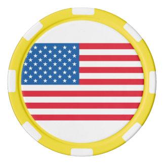 USA Flag stars and stripes Poker Chips