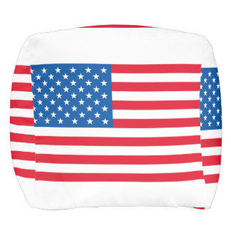 USA Flag stars and stripes Pouf